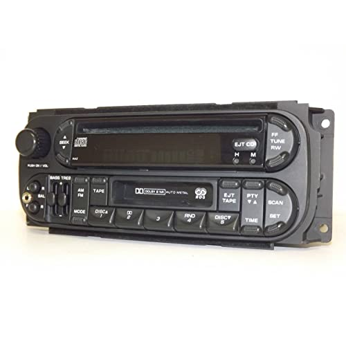 2002-2006 jeep chrysler dodge rds radio am fm cd cs ipod aux in p05064042ab