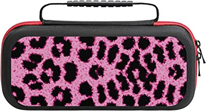 $26 » Pink Leopard Case Compatible with Switch Case Protective Carry Bag Hard Shell Storage Bag Portable Travel Case for Switch ...