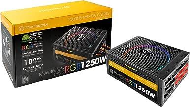 Thermaltake Toughpower DPS G RGB 1250W Digital 80+ Titanium Smart Zero 256-Color RGB Fan Fully Modular ATX 12V 2.31/EPS 12V 2.92 Power Supply 10 YR Warranty PS-TPG-1250DPCTUS-T