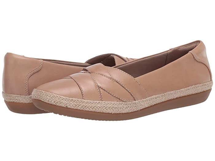 Clarks  Danelly Shine (Sand Leather) Womens Shoes