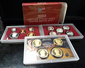 2010 S US Mint 14-coin Silver Proof Set Box & COA Proof