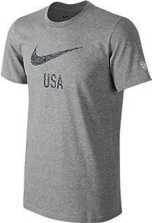 United States America USA Fade Swoosh Core Soccer Team Slim Fit T-Shirt