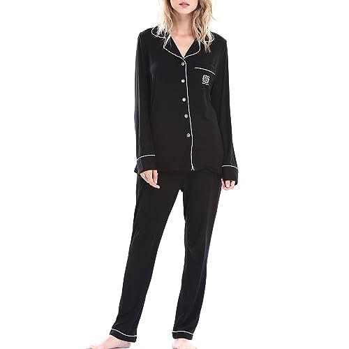 a7145cf245 N NORA TWIPS Pajamas Women s Long Sleeve Sleepwear Soft Pj Set