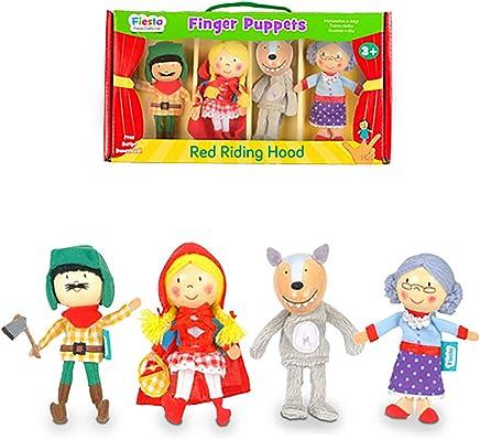 Fiesta Crafts T-2376 Red Riding Hood Finger Puppet
