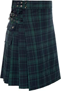 Scottish Mens Kilt Traditional Highland Tartan Utility Kilt