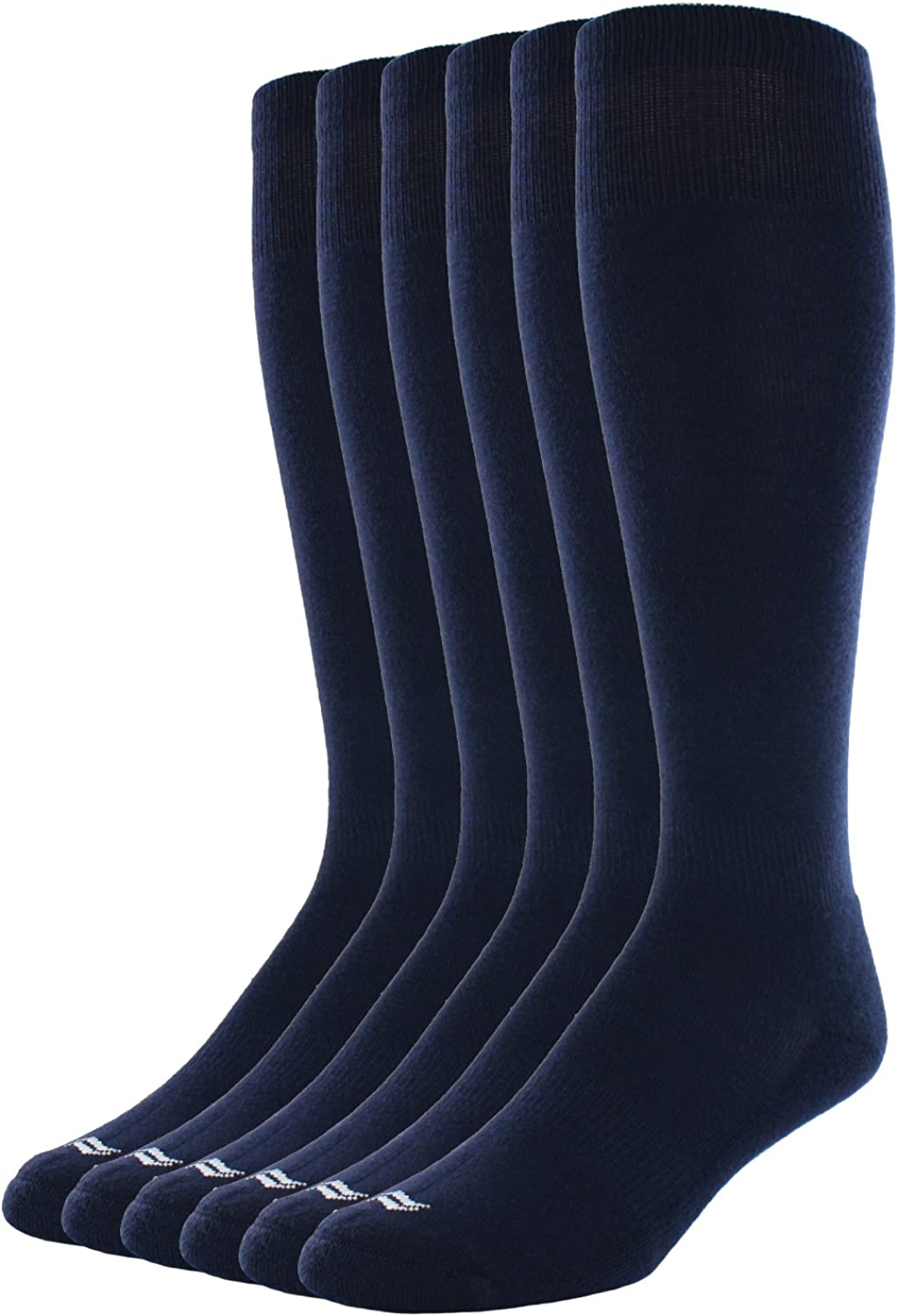 Sof Sole All Sport Over-The-Calf Team Athletic Performance Socks for Men and Youth (6 Pairs), Child 13-Youth 4, Navy : Sports & Outdoors