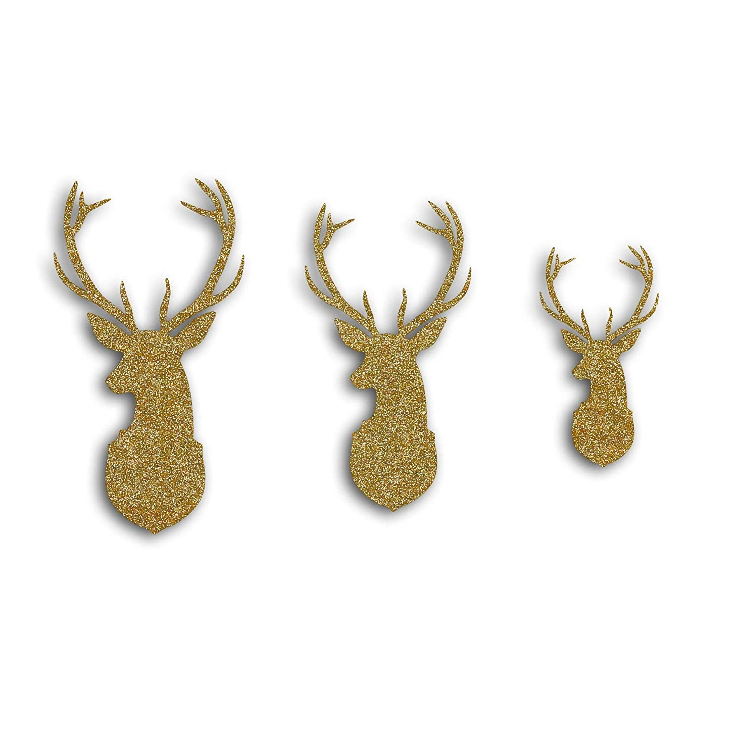 Toga Reindeers Cut Shapes with Glitter - Golden