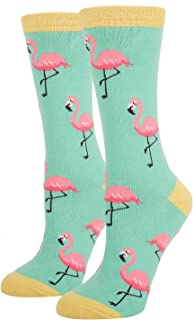 Women's Girls Novelty Crazy Food Fruit Crew Socks, Pineapple Nurse Sloth Flamingo