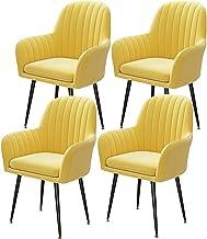 ZCXBHD Zestaw 4 pokrowców na krzesła do jadalni pokrowiec na krzesło z połowy wieku nowoczesny pokrowiec na krzesło salon ...