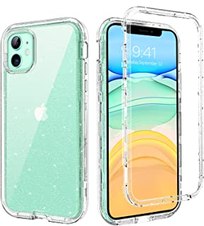 BENTOBEN iPhone 11 Case 6.1-inch, Clear Transparent 3 Layer Heavy Duty Rugged Full Body Shockproof Hybrid Hard PC Soft Bumper Durable Protective Phone Cases Cover for iPhone 11 (2019), Glitter Clear