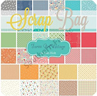 Riley Blake Farm Girl Vintage Scrap Bag (Approx 2 Yards) by Lori Holt Fabric cuts DIY Quilt Fabric