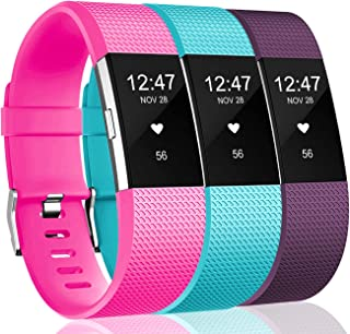 Wepro Bands Compatible with Fitbit Charge 2 HR, 3-Pack...