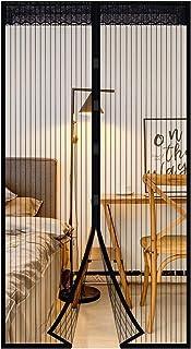 Extsud Magnetyczna moskitiera na drzwi, ochrona przed owadami, moskitiera 80 x 200 cm, automatyczne zamykanie, ochrona prz...