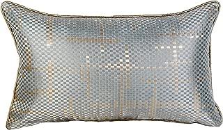 Stranger elegante funda de almohada de cintura de satén y seda verde dorado, estilo moderno, estilo italiano, para sofá cama, rectangular, funda de almohada de cintura