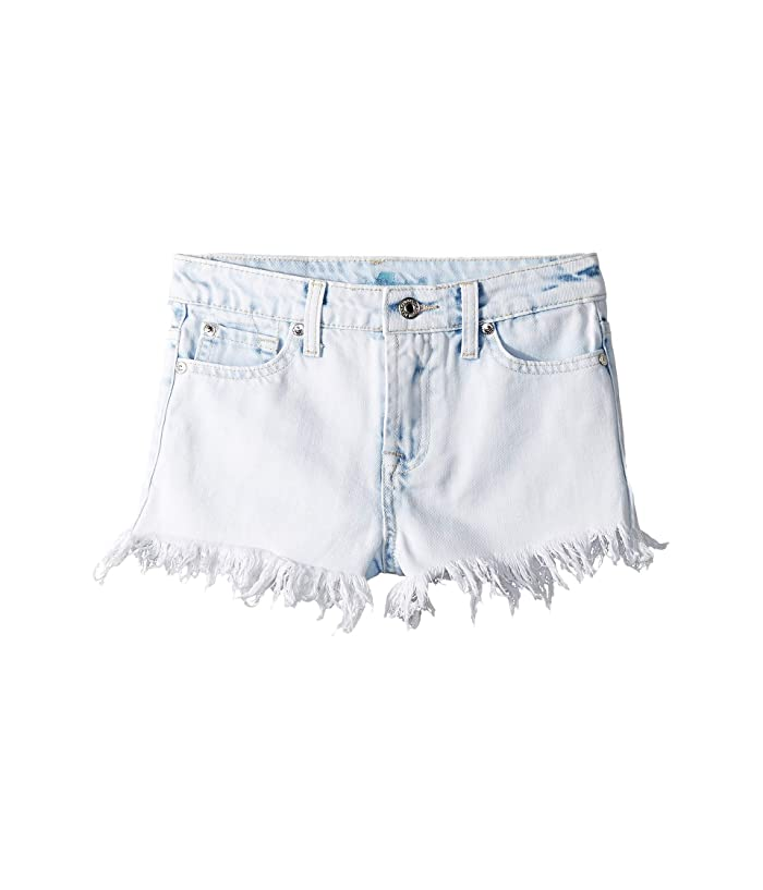 7 For All Mankind Kids  High-Waisted Rigid Denim Shorts in Vintage Mineral (Big Kids) (Vintage Mineral) Girls Shorts