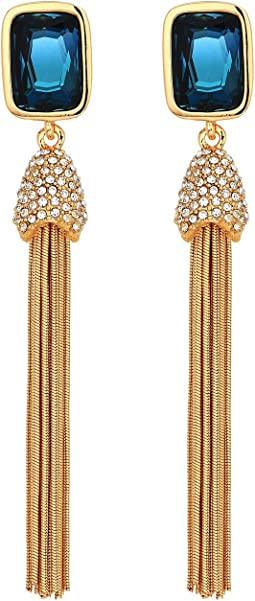 Vince Camuto Crystal and Tassel Earrings