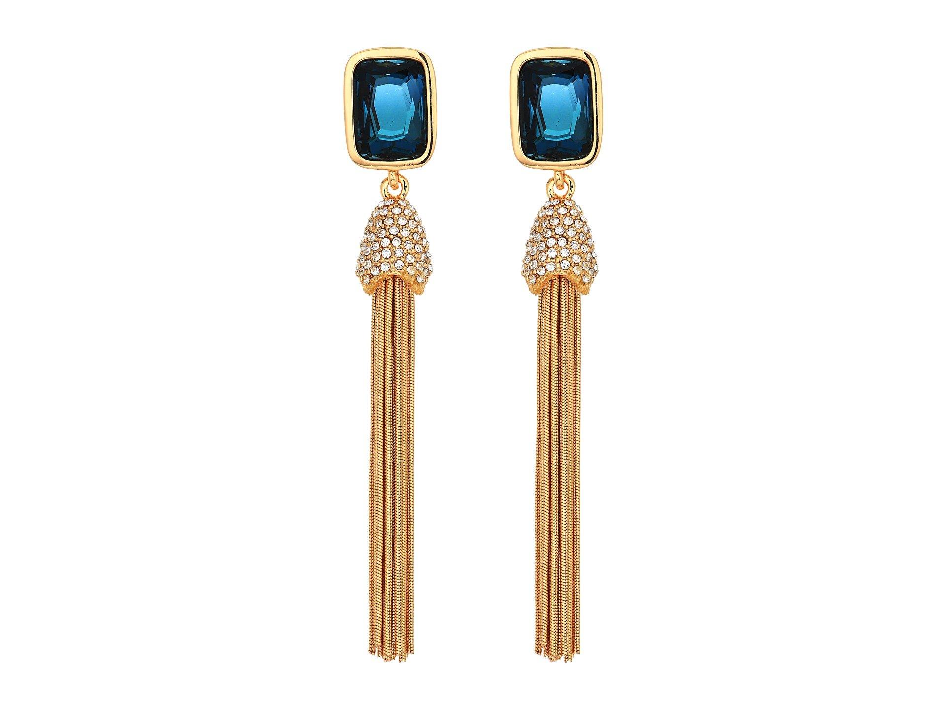 Pendientes para Mujer Vince Camuto Crystal and Tassel Earrings  + Vince Camuto en VeoyCompro.net