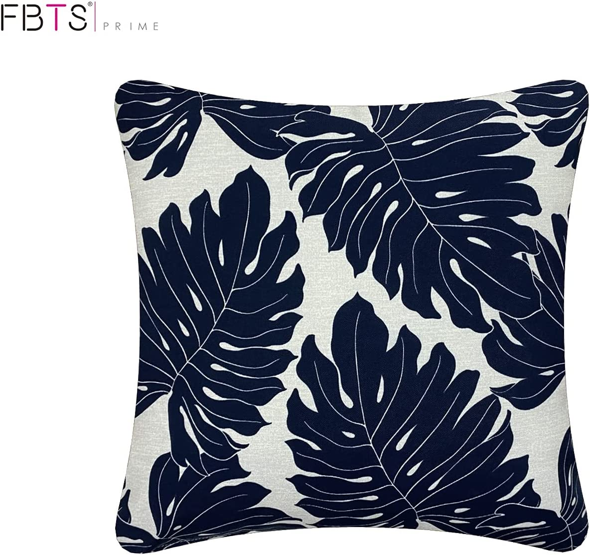 Buy FBTS Prime Outdoor Decorative Pillows with Insert Navy Leaves ...