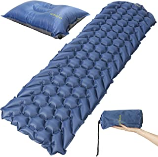 OKOGAI Inflatable Air Sleeping Pad [Not Foam] | Compact Ultralight Air Mattress + Self-Inflating Pillow | Best for Camping, Backpacking, and Hiking | High Insulation (R-Value 2.5!)
