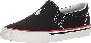 POLO RALPH LAUREN Kids Boys' MOREES Sneaker Black 13.5 Medium US Little Kid