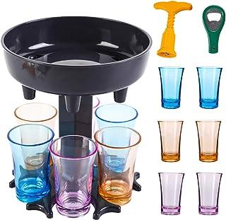 6 Shot Glass Dispenser and Holder, Shot Buddy Dispenser, Alcohol Drink Beverage Dispenser for Party, Wine Liquid Pour Disp...