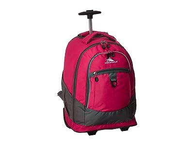 High Sierra Chaser Wheeled Backpack (Pink Punch/Slate) Backpack Bags