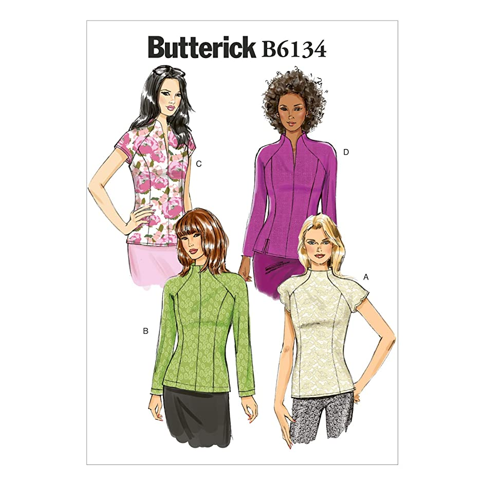 Butterick Patterns B6134 Misses' Top Sewing Template, Size A5 (6-8-10-12-14)