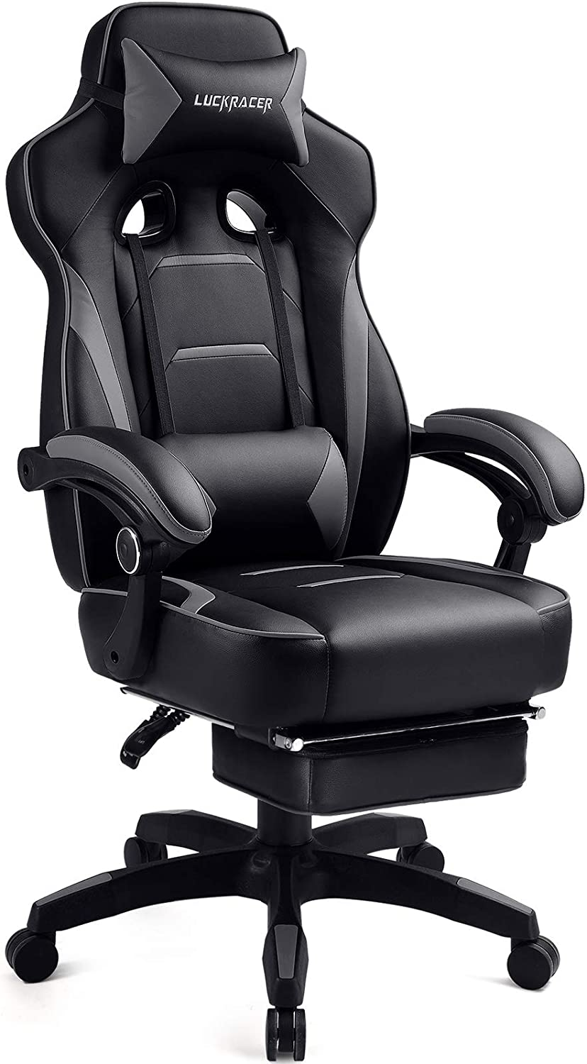 Luckracer Gaming Chair with Desk Office gift Selling and selling Footrest Ergonomic
