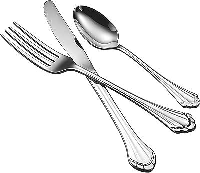 Oneida Salad/Dessert Forks Flatware, Set of 36, Silver