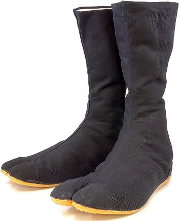 Black Japanese Rikio Fighter Ninja Bujinkan Jika (outdoor) Tabi Shoes boots (JP 24 ...