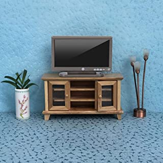 Miniature TV Television, Dollhouse TV Television, Safe Gift for Children Durable Living Room Lightweight