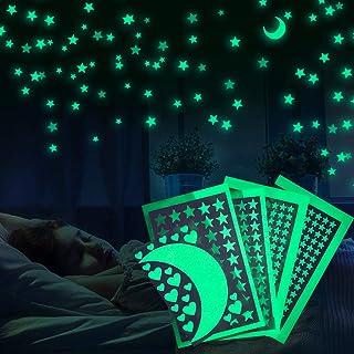 Meloive Stickers Etoilés Muraux Lumineux, Décor De Plafond Fluorescent Pour Chambres D'enfants, Chambres De Bébés Ou Des F...