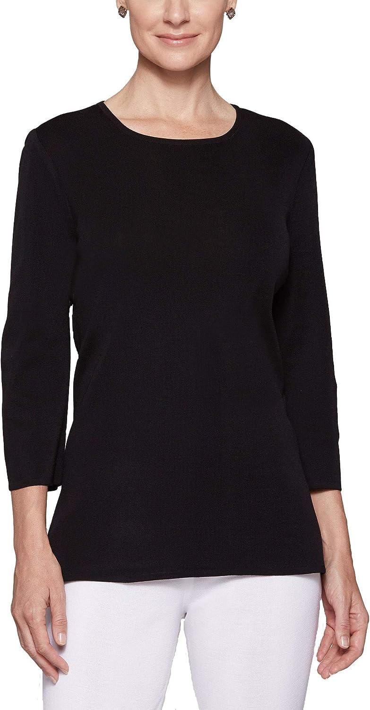 MISOOK Jewel Neck 3/4 Sleeve Tunic - Pull On closure, Jewel Neckline, Wrinkle Free