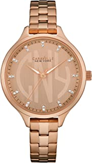 Caravelle New York 44L207 Ladies Round Slim Rose Gold Steel Bracelet Watch