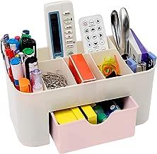 Asuvi Cosmetic Storage Box Multi Functional Desktop Tidy Organiser Holder with Drawer Random Colour