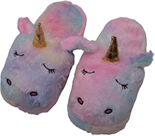 STORE 2508 ® Unisex Cute Unicorn Indoor Plush Room Slippers for Teenagers and Adults (Multicolour, Free Size)