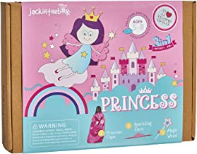 jackinthebox Princess Themed Arts and Crafts for Girls | 3 Activities-in-1 | Best Girl Gift for Ages 4,5,6,7,8 Years | Includes Beautiful Felt and Foam Embellishments (Princess 3-in-1)