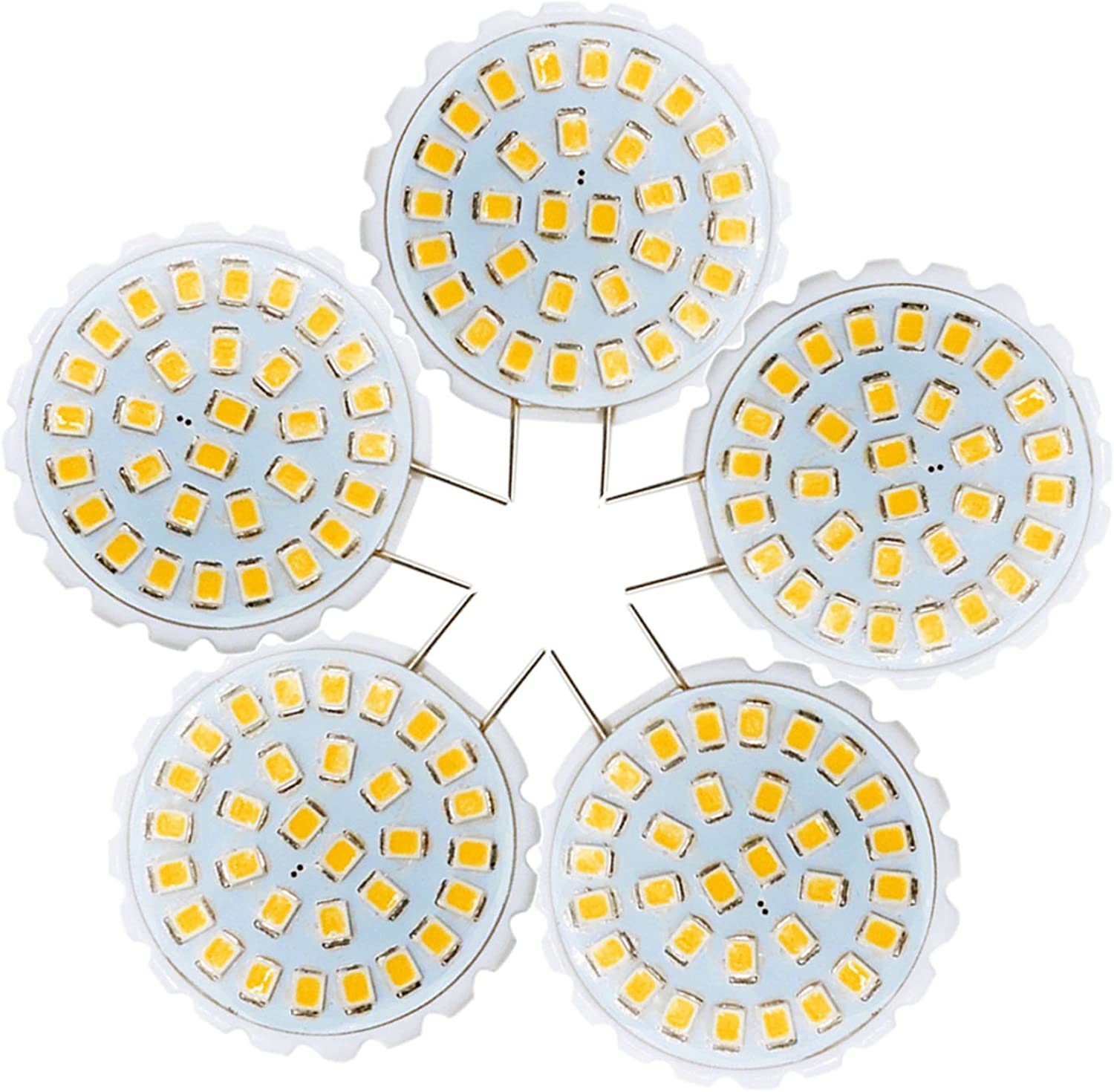 LL G8 2835 SMD 31LED 2Watts 100200Lm Cool White Chandelier Decorative Light BiPin Lights AC 110140V (Pack of 5) (Size   Cold White)