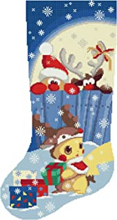 Cross Stitch Pattern Christmas Stocking PDF Nightmare Before Christmas Modern Counted Easy Printable Cute Cross Stitch Design Winter Stars Moon Night Cross Stitch Chart Materials are NOT Included!