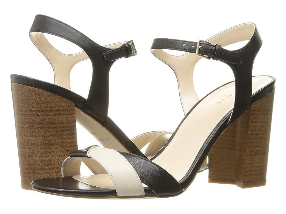 Cole Haan Florena Sandal II (Black Leather/Ivory Leather) Women