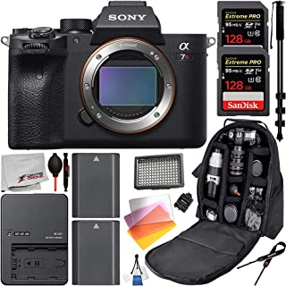 Sony Alpha a7R IV Mirrorless Digital Camera (Body Only ILCE7RM4/B) Advanced Bundle: Includes – 2x 128GB Extreme Pro SanDisk Memory Card, 2x Extended Life Batteries and 1x Travel Charger, and Much More