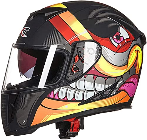 Zcx Casque   Casque Moto Tout-Terrain   Doubleure Amovible Casque De Motocross Tout-Terrain Racer   Casque Tout-Terrain Ajustable Ajustable ( Couleur   Noir , Taille   XXL )