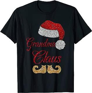 Grandma Claus Matching Family Group Christmas T Shirt T-Shirt