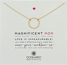 Dogeared Magnificent Mom, Little Sparkle Karma Necklace