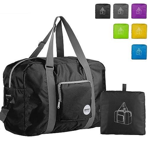 c15ab1518a Wandf Foldable Travel Duffel Bag Luggage Sports Gym Water Resistant Nylon