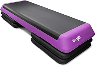Yes4All Adjustable Aerobic Step Platform with 4 Risers – Health Club Size