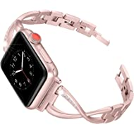Secbolt Stainless Steel Band Compatible Apple Watch Band 38mm 40mm Women Iwatch Series 4, Series...