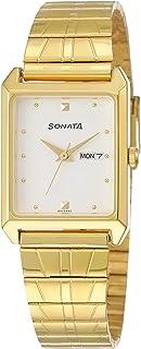 Sonata Analog White Dial Men's Watch NM7007YM03 / NL7007YM03