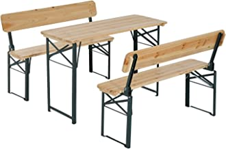 Outsunny 4' Wooden Outdoor Folding Picnic Table Set with Benches