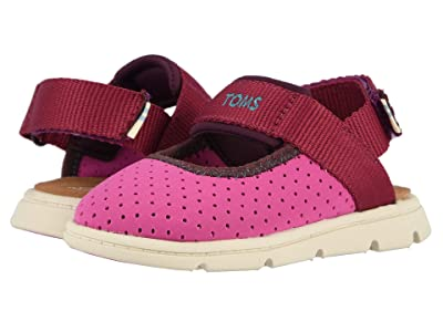 TOMS Kids Caity (Toddler/Little Kid) (Rose Violet Nylon Perforated) Girls Shoes